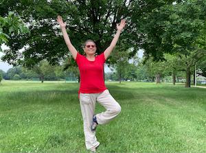 Lidia in het park